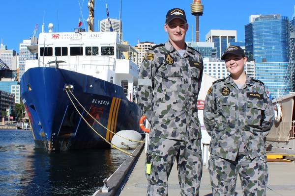 News from AMC: Navy Trainees learn the ropes around Bluefin