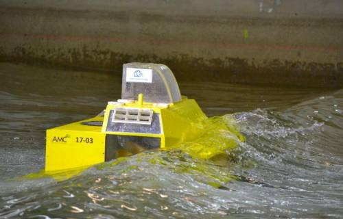 Case study: wave energy converter tested in model test basin
